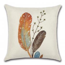 Sierkussen Feathers  Bruin 45x45cm