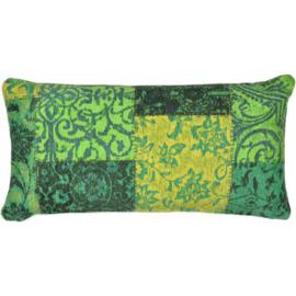 Sierkussen Patchwork VKW Prestigieux 'Metanoia' Groen 70x35xm