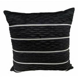 Sierkussen Crumble Velvet  Zwart 45x45cm