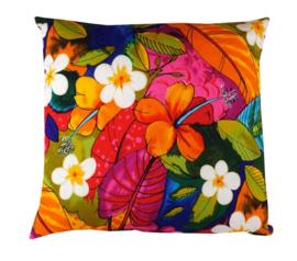 Sierkussen J.Henley Funky Flowers Multikleur/Roze 50x50cm