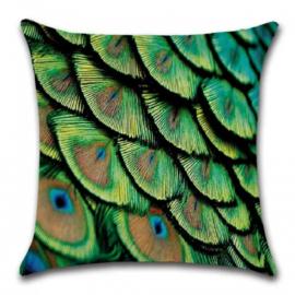 Sierkussen Peacock Groen 45x45cm