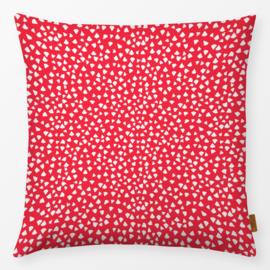 Sierkussen Polka Dots Driehoekig Rood/Wit