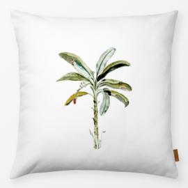Sierkussen Palmboom Wit