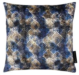 Sierkussen IV Blue Snake Blauw/Bruin 45x45cm