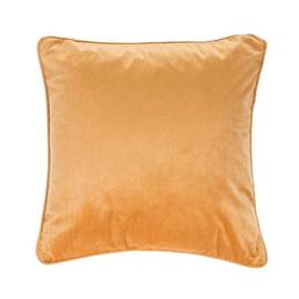 Sierkussen Microvelvet Oker/Oranje 45x45cm
