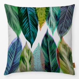 Sierkussen Leaves Groen/Multikleur
