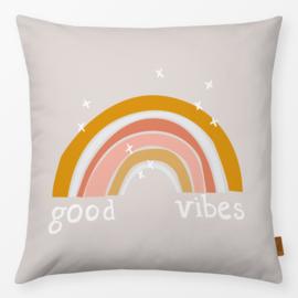 Kinderkussen Regenboog Good Vibes Oranje/Roze