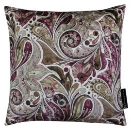 Sierkussen IV Paisley Garden Bordeaux/Lilac 45x45cm