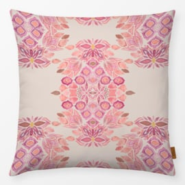 Sierkussen Boho Floral Beige/Roze