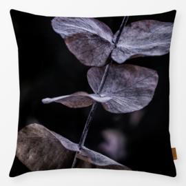Sierkussen Eucalyptus Paars/Zwart