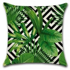 Sierkussen Jungle Chill Groen/Zwart 45x45cm
