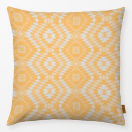 Sierkussen Geometrisch Kelim Geel/Oranje/Grijs