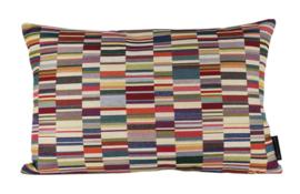 Sierkussen Jacquard  Short Stripes Light Multikleur 60x40cm