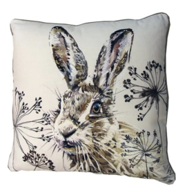 Sierkussen Hare Grijs/Crème 45x45cm