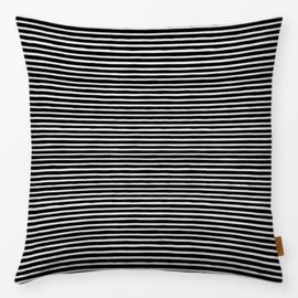 Sierkussen Marker Stripes Zwart/Wit
