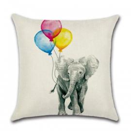 Sierkussen Ballon Elephant Multikleur 45x45cm