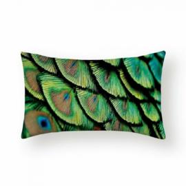Sierkussen Peacock Long Groen 30x50cm