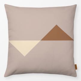 Sierkussen Triangle Jumbo Beige/Bruin/Crème