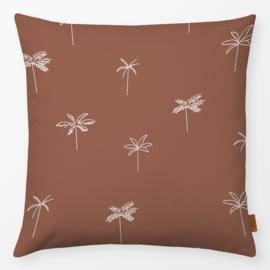 Sierkussen Palmboom Bruin