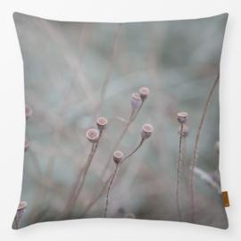 Sierkussen Poppy Capsules Winterlicht Roze/Turquoise