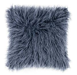 Sierkussen Mohair Blauw 45x45cm