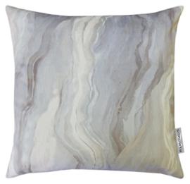 Sierkussen Velours Lava Alabaster Crème/Zilver 50x50cm