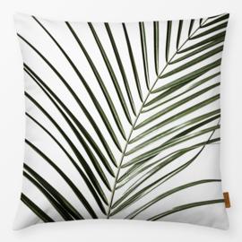 Sierkussen Palm Bladeren 8 Wit/Groen