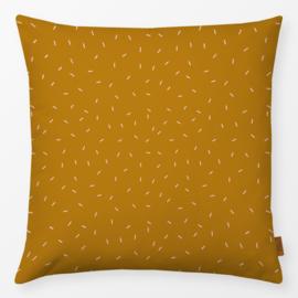 Kinderkussen Punten en Lijnen Oranje/Geel
