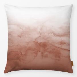 Sierkussen Aquarel Kleurovergang Terracotta