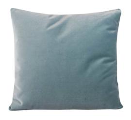 Sierkussen  Velours Soft Teal 5156 Grijs/Blauw 60x60cm