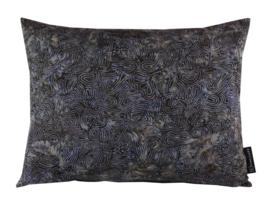 Sierkussen Batik Cotton Dark Blauw/Paars/Beige 50x40cm