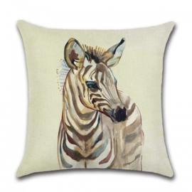 Sierkussen Africa Zebra Bruin 45x45cm