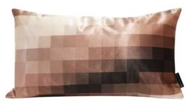 Sierkussen Pixelpot ZW-W Beige/Bruin 30x50cm