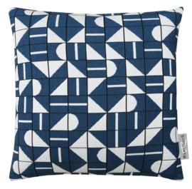 Sierkussen Cronicle Blauw/Wit 50x50cm