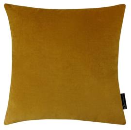 Sierkussen Velvet Caramel 8230 Goudgeel 60x60cm