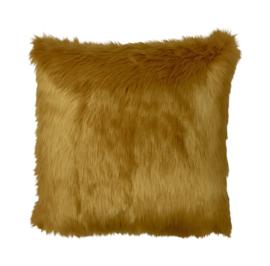 Sierkussen Fur Goudgeel 50x50cm
