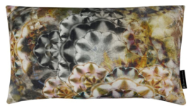 Sierkussen Kaleidoscope Grijs/Oker 50x30cm