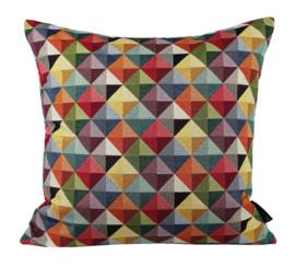 Sierkussen Gobelin Triangle Multikleur 50x50cm