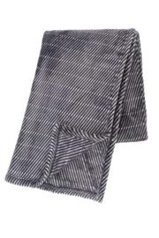 Plaid Micro Flannel Dark Stripe Taupe 130x180cm