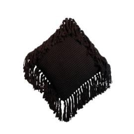 Sierkussen Natuurlijk 'The Macrame' Zwart 40x40cm