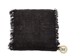 Sierkussen Natuurlijk  'The Oh My Gee Navy' Zwart 60x60cm
