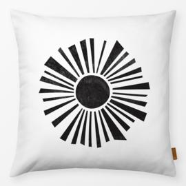 Sierkussen Minimalistische Zon Zwart/Wit