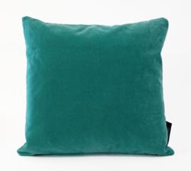 Sierkussen Deluxe Velours Turquoise 45x45cm