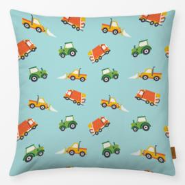 Kinderkussen Traktor Rumble Blauw/Turquoise