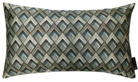 Sierkussen Tiles Dark M Groen/Goud 50x30cm