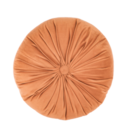 Sierkussen Microvelvet Rond Peach Oranje ø38cm