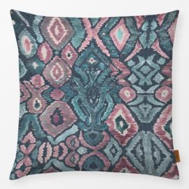 Sierkussen Boho Marrakech  Azteekse Patroon Roze/Turquoise