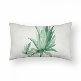 Sierkussen Palm Larissa Long Groen 30x50cm