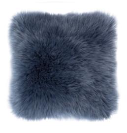 Sierkussen Long Haired Blauw 45x45cm