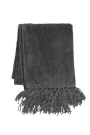 Plaid Micro Flannel Solid Grijs